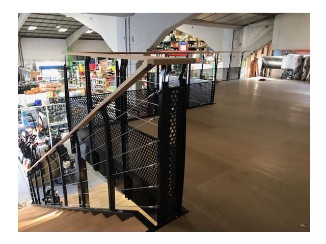 Mezzanine ERP utilisée pour une surface de vente