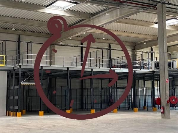 mezzanine industrielle autoportante
